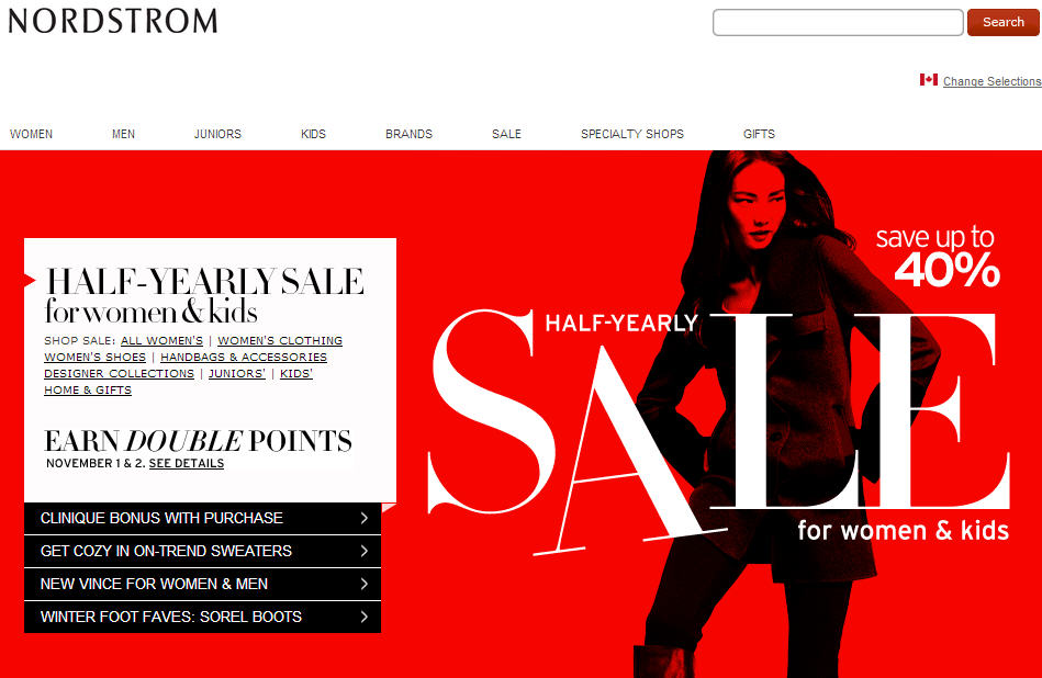 Nordstrom is a leading fashion retailer for all clothing and accessories. They have stock of all latest designer brand handbags, jewelry and watches. Find the latest Nordstrom promos and Nordstrom sales get the best deals. Find the best promotions by looking at our daily updated deals.