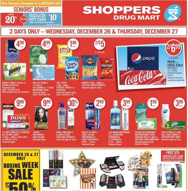 I love when Shoppers Drug Mart offers their special sale prices for two full days, giving you plenty of time to take advantage of them! They're a great chance to take advantage of your personal offers, so make sure to load and check them before making your shopping list to maximise your PC Optimum earnings.