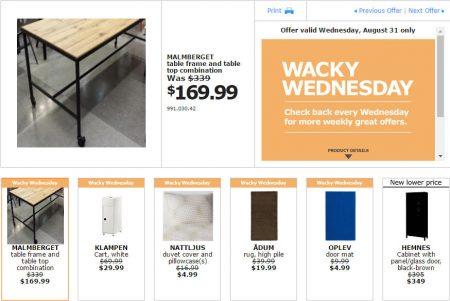 IKEA - Edmonton Wacky Wednesday Deal of the Day (Aug 31)